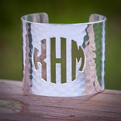 Cut Out Monogram Silver 2.0