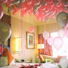 Cute way to ask a girl to prom! or have her date hidden with even more balloons