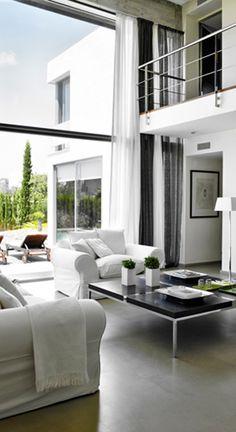 Open, modern interior