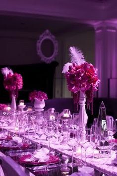 purple lights!! Wedding Decor by JL Designs