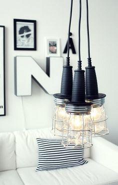a whole page of awesome DIY lighting