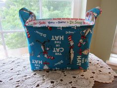 Reversible Organizer Fabric The Cat in The by designsbyMickey4u, $18.00