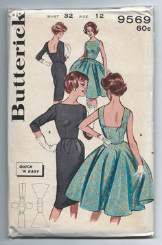 Vintage Butterick 9569 UNCUT Misses Full Skirt by RomasMaison, $28.00