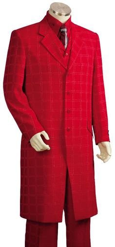#Mens #Stylish #Hot #Red #3 #Piece #Zoot #Suit + #Shirt +#Tie + #Vest for  #$225 also known as #complete #prom #suits
