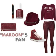 Last minute Halloween costume idea? Maroon 5 Fan by avagracescloset, via Polyvore