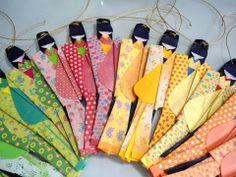 Origami Maniacs: Japanese Girl Bookmark
