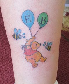 My tattoo for my boys. Will add balloons when I have grandchildren.