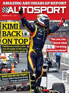 November 8 2012, Kimi Back on top