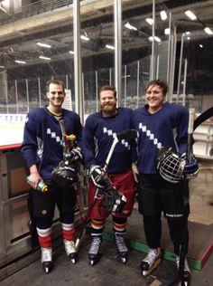 St. Ambrose Hockey 2014. (pictured: David Farley, Tyler Gannon, myself) besetzni sau, ambros hockey, hockey 2014, brendan besetzni, david farley, tyler gannon