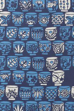 We Love Vera teacup wallpaper via anthropologie