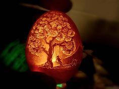 And Now, Illuminated Egg Art by Vnarts