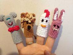 Finger puppets - crochet