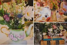 """Just-picked"" centerpieces"