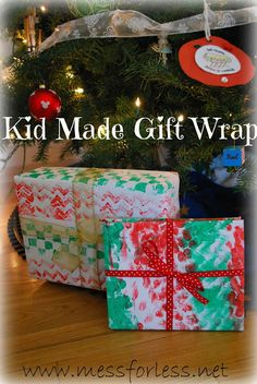 Mess For Less: Kid Made Gift Wrap