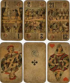 French antique playing cards