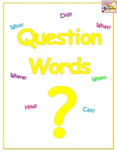 FREE! This is a poster of question words to help students to remeber that a question sentence always starts with a question word and ends with a question...