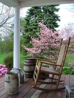 Porch with rocking chair