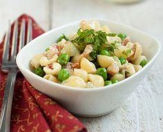 Seasonal Eating: Pasta with Peas, Prosciutto, and Cheese - Foodista.com #pastarecipes