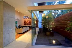 Interior/exterior overflow at Casa Siete in Guadalajara, Mexico by Hernandez Silva Architects