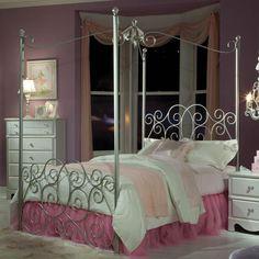 Princess Twin Canopy Bed | Nebraska Furniture Mart