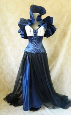 Doctor Who Tardis Corset Costume Oufit-Whole Corset Costume Outfit-MADE FOR BUYER