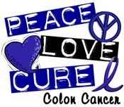 PEACE LOVE CURE Colon Cancer