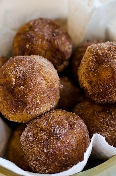 Baked Pumpkin Spice Donut Holes CLICK THIS PIN to visit the BEST SITE for Recipes.  #Recipes