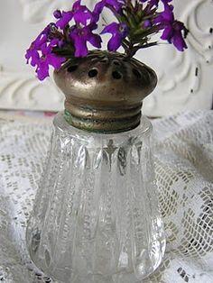 salt shaker vase for tiny flowers