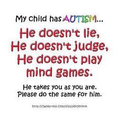 My child has #Autism....