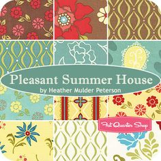Pleasant Summer House Fat Quarter Bundle Heather Mulder Peterson for Henry Glass Fabrics