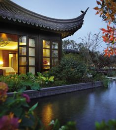 With a private pagoda like this, staying in for the night is an easy decision.