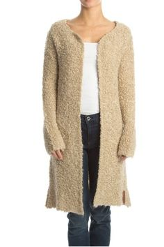 Moscow cardigan vest teddy taupe