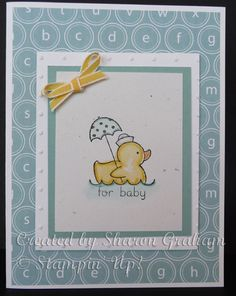 Easy Baby card ~ I have this stamp!