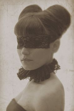 Caged Canary - Live The Fairytale #Mask #Masquerade #Updo #Hair #Brunette #Romance #Fairytale #Gothic