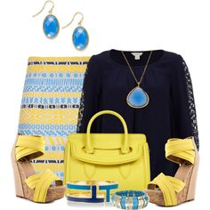"""""""Yellow and Blue"""" by jackaford-bittick on Polyvore"""