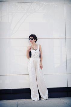 White overalls perfection