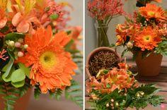 Arranjo Floral Laranja - Com passo-a-passo Via Home 4 two