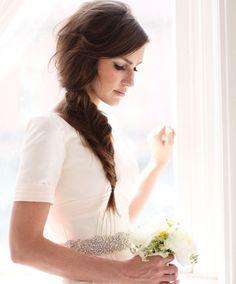 Fishtail wedding hair