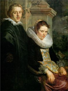 Jacob Jordaens - Portrait of a Young Married Couple (1620)