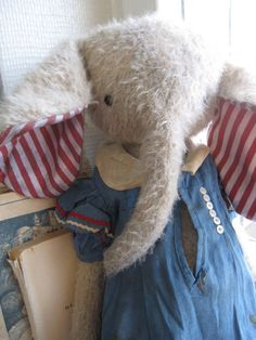 Just adore these! #elephant #stuffed animal # toy #kids #children