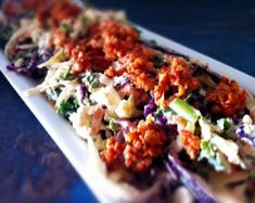 #Kale Slaw with Barbecue Crumbles #vegan #salad