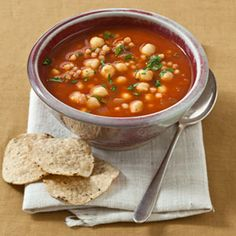 Pancetta and Chickpea Soup   MyRecipes.com #MyPlate #protein #vegetable #grain