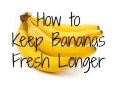 How to Keep Bananas Fresh Longer | Budget Savvy Diva