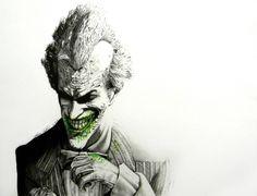 Scary Joker illustration Artworks