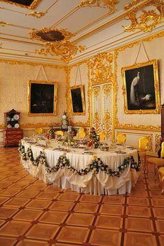 Entertaining Room - Catherine Palace, Tsarskoye Selo, Russia