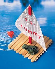 Make a boat out of Popsicle sticks fun craft for the kids