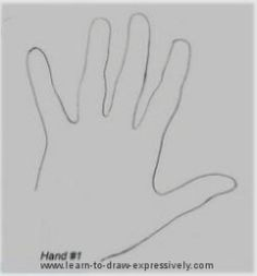 This page offers the readers a chance to look at how to draw a hand using contour line drawing, how the technique is applied and what it does to the drawing.