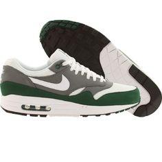 Nike Men Air Max 1 Essential (white / mercury grey / grg green) 537383-112 - $99.99