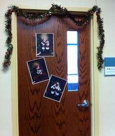 Photos with Santa - on Natascha Palmer's door at CCTSI in the Leprino Building #CUHSLibrary
