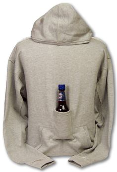 Best hoodie for around the camp fire at night. HELL YEAH!! I need one of these!! beer pouch, gift, camp, christmas presents, hoodi sweatshirt, birthdays, around the house, beer hoodi, wine bottles